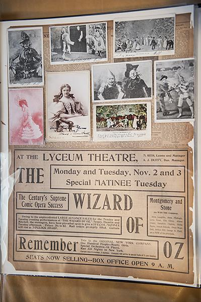 Photographs and advertisements for the 1903 Broadway Musical of 'The Wizard of Oz.'