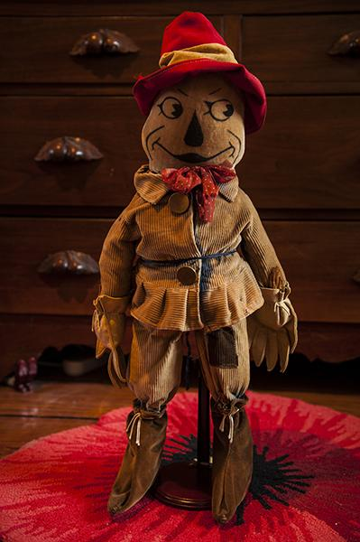 A rare 1920s Scarecrow doll is a recent edition to Albright's collection.