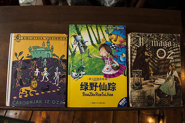 'Wizard of Oz' books translated into languages around the globe.