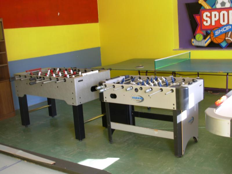 The game room at La Paz House.