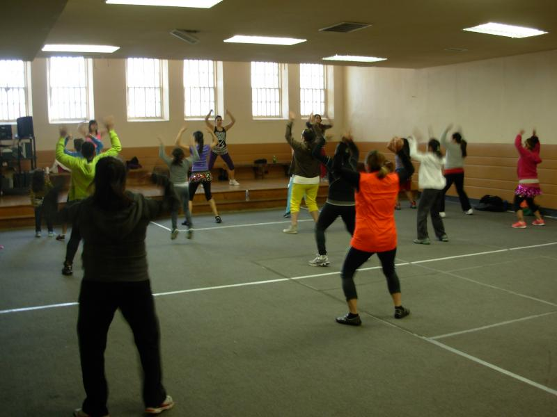 Dance exercise class in full swing at Grandview Park Presbyterian