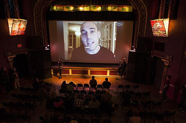 "Following the showing of ""The Act of Killing"" Joshua Oppenheimer answered questions from the audience via Skype."