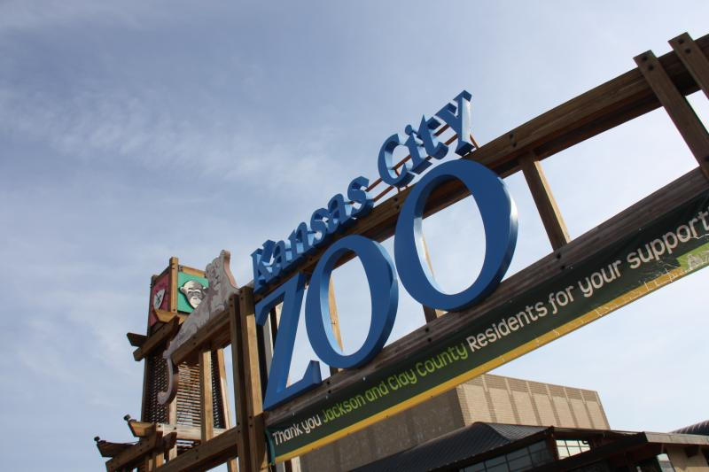 A banner above the zoo entrance thanks supporters for passing a recent tax levy.