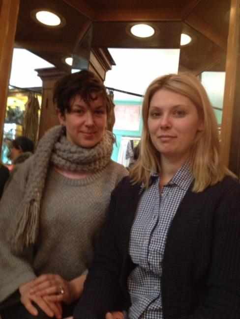 Artist collaborators Peregrine Honig and Heidi Van