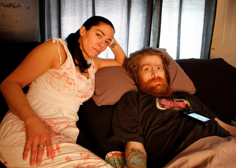 Tomas Young and Claudy Cuellar at home