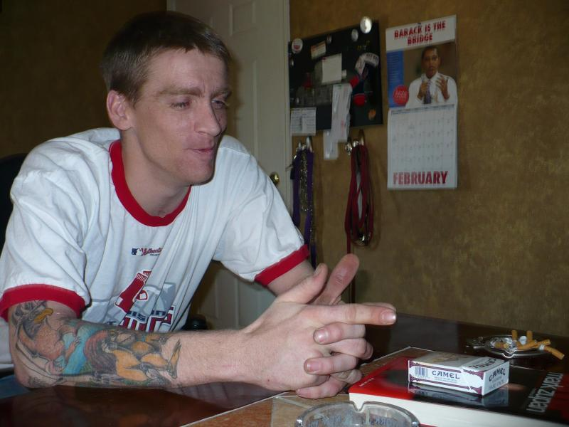 Tomas at home in 2008