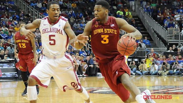 Iowa State's Melvin Ejim (at right) scored a career-high 23 points and 12 rebounds.