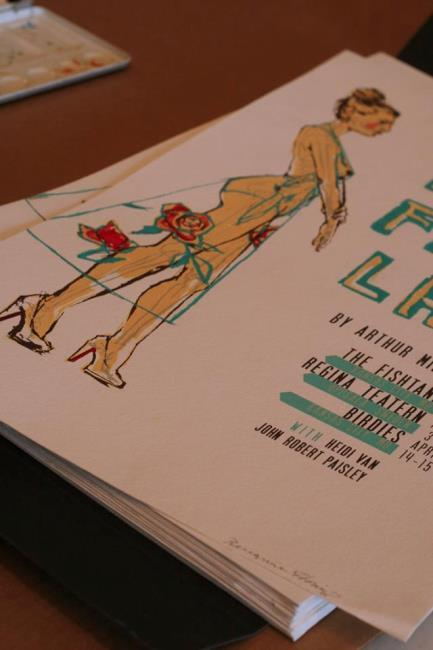 Peregrine Honig designed posters for the production of 'Elegy for a Lady.'