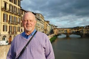 Rudy Maxa in Florence, Italy.