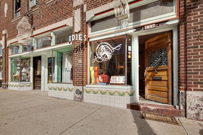 Birdies, a lingerie and bridal shop, is located on W. 18th Street in the Crossroads.
