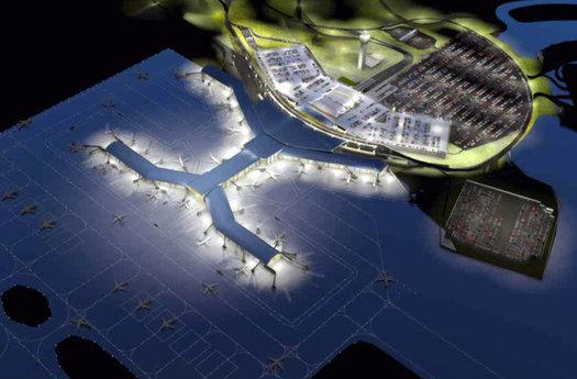 Proposed new KCI airport at night