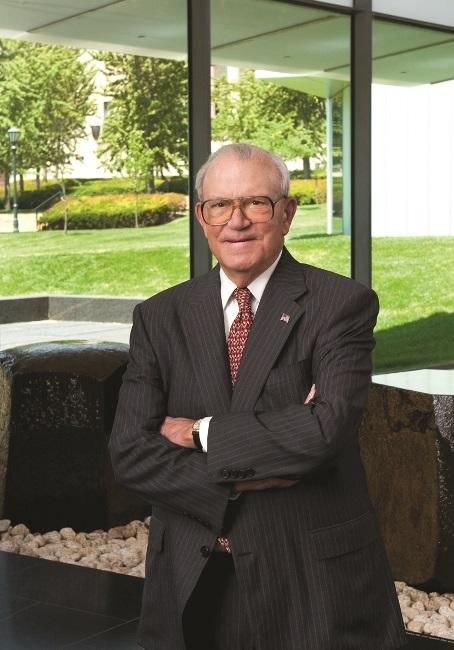 Don Hall, who served as a member of the Nelson-Atkins Board of Trustees for 31 years, pictured inside the Bloch Building at the Nelson-Atkins Museum of Art.
