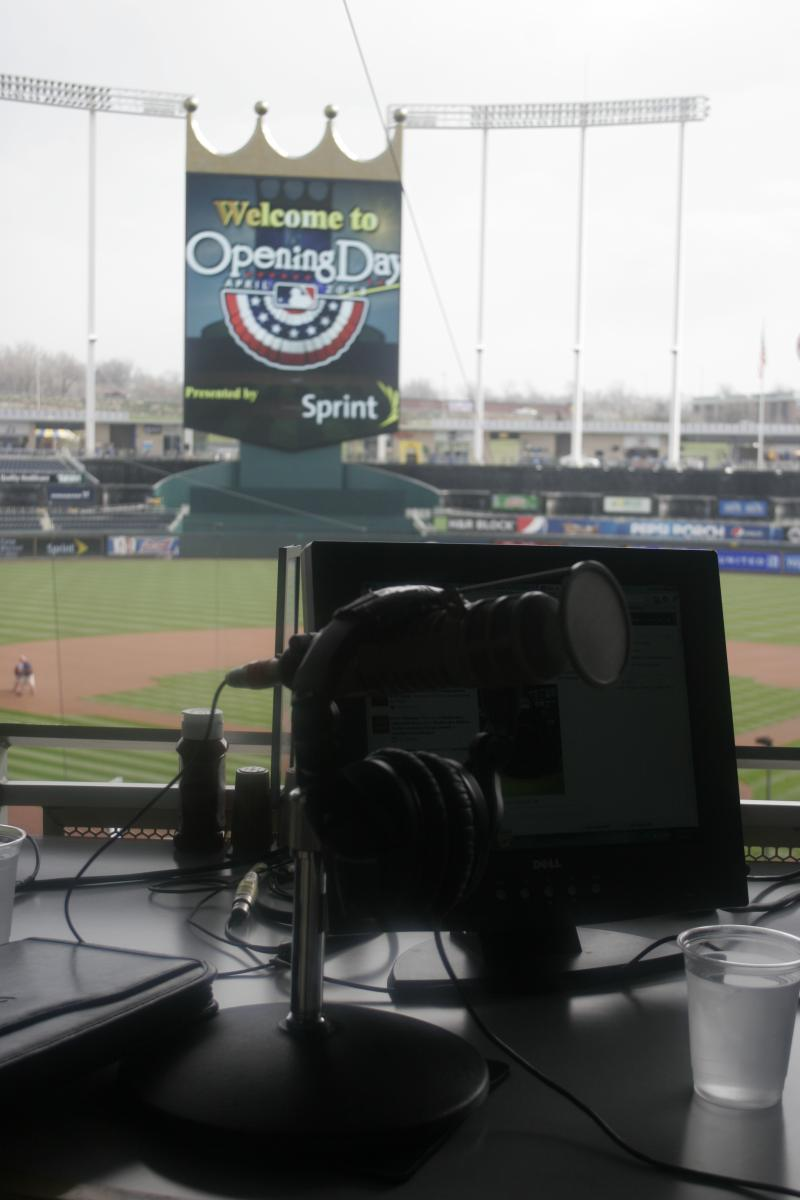 Up to Date broadcast live at Royals Opening Day.