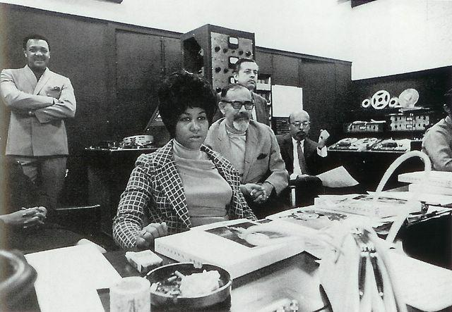 Aretha Franklin In The Atlantic Studios