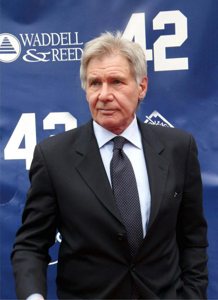 Actor Harrison Ford plays Brooklyn Dodgers general manager Branch Rickey.