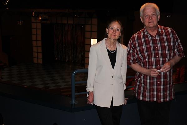 The American Heartland Theatre's executive director, Lilli Zarda, and director of production, Paul Hough. The theatre goes dark at the end of the season.