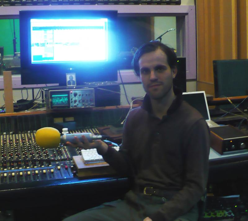 Ashley Miller in his home studio