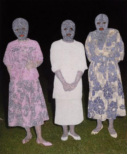 Paul Anthony Smith, Night Walkers, 2013 unique picotage on pigment print 29 x 24 inches, IN5341