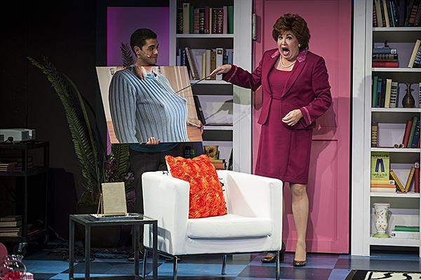 Debra Bluford, as Miss Abigail, illustrates the wrong sort of signal to send.