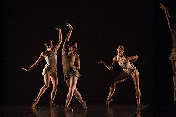 Sarah Walborn, Arielle Espie, and Jill Marlow hold a pose.