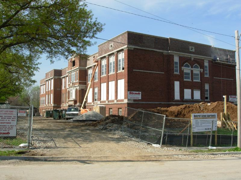 Turning the Bancroft School into housing in Manheim Park.