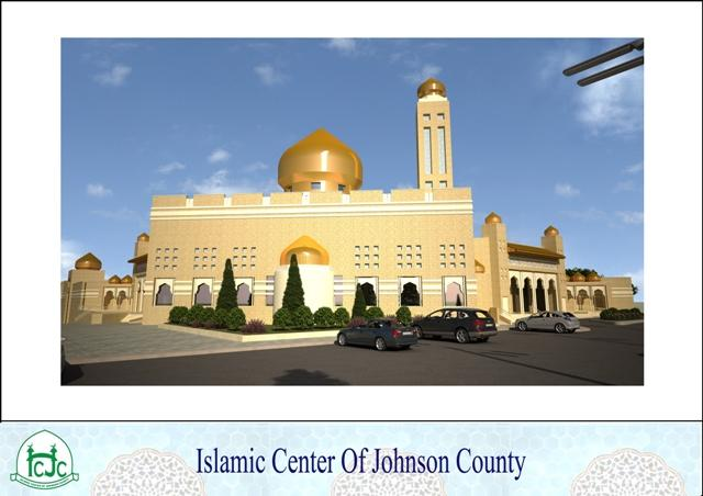 Image of plans for new Johnson County mosque