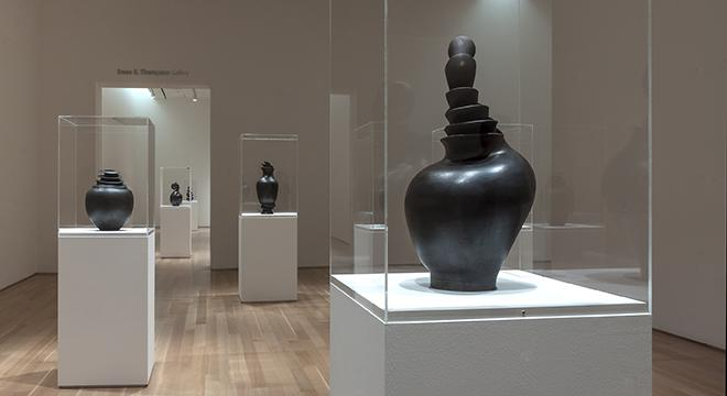 An installation view of McHorse's work.