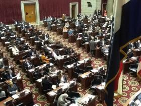 The floor of the Missouri House during the legislative session.