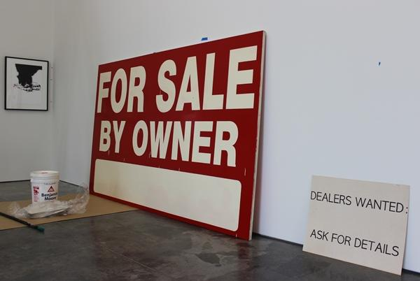 "Gobber, also an artist, has an ironic work in the show called ""For Sale."""