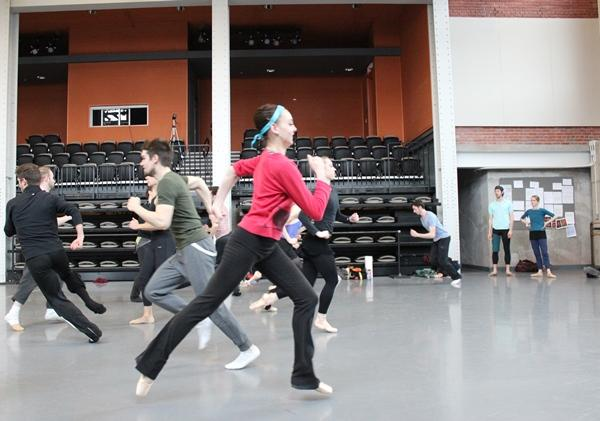 """Next radical idea: Try running,"" directed Armitage during the rehearsal."
