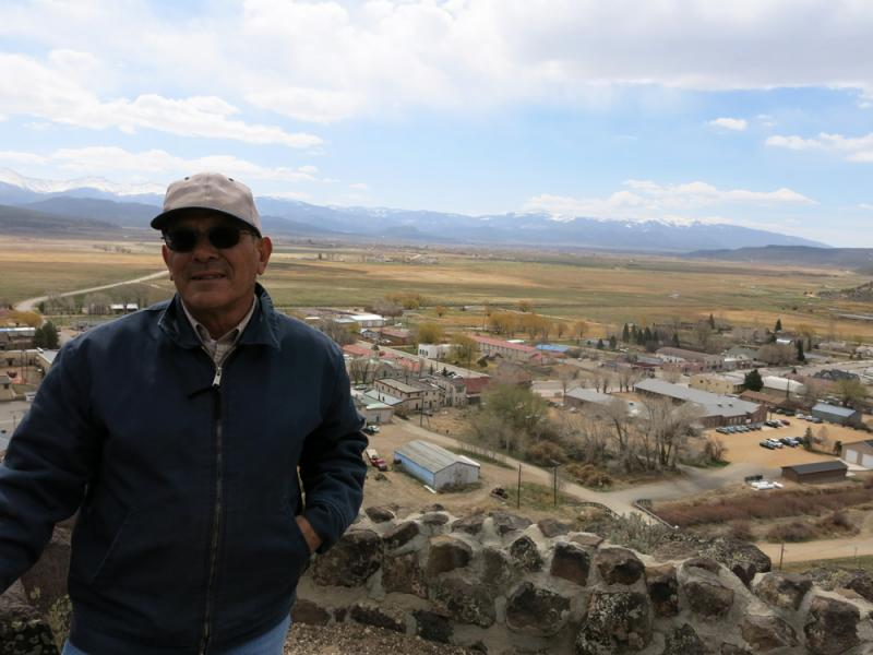 Eugene Jacquez's family has grown beans and raised sheep at the base of the Culebra peaks in San Luis, Colo., for generations. He belongs to the Rio Culebra Cooperative.