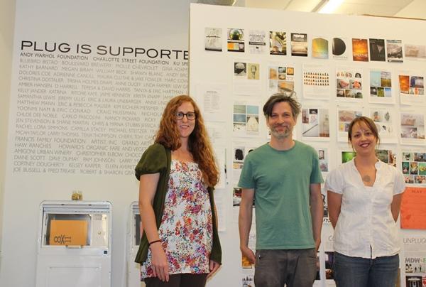 Artists Leigh Martin (OKC), Andy Brayman (KC), and Sarah Hearn (OKC).