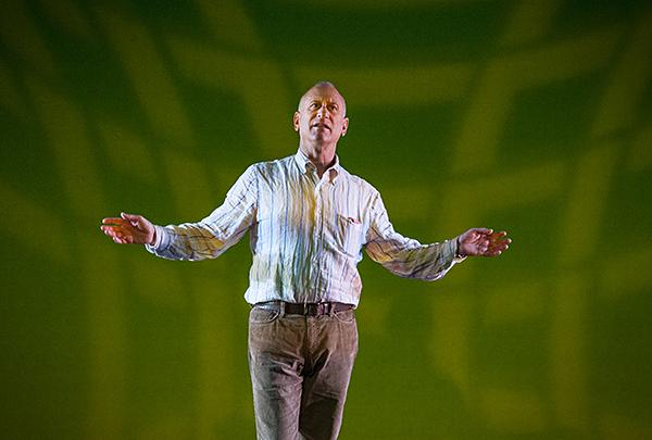 Artistic Director William Whitener takes a final turn on the Kauffman stage during rehearsals.
