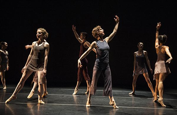 Jennifer Owen (center) choreographed the eighty-minute-long piece.