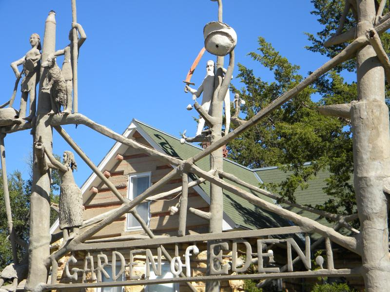 World-renowned art site the Garden of Eden in Lucas, Kan. features the art and architecture of Samuel Perry Dinsmoor.