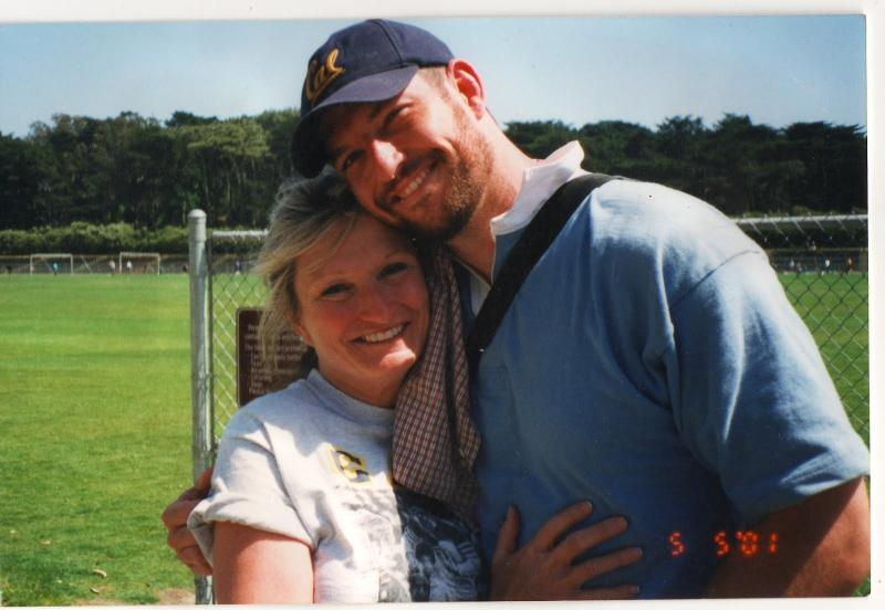"Flight 93 passenger Mark Bingham with his mom, Alice, from ""The Rugby Player."""