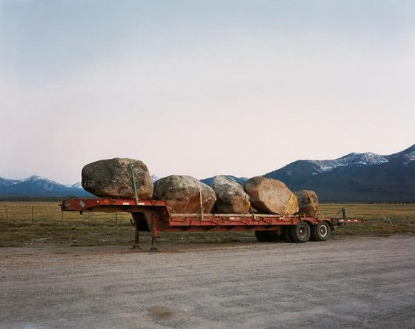 Rocks from Sawtooth National Forest for Landscaping in Sun Valley, Pettit Lake Road, Blaine County, Idaho, 2004; chromogenic print, 72 x 96 inches;