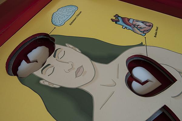 Highlighting ailments, Cinderhouse's game 'Operation' was created for a show at the Byron Cohen Gallery in 2002.
