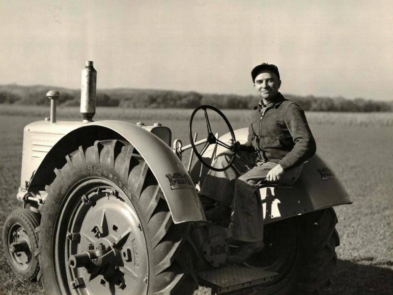 Bob Hawthorn's father, Fred, tested tractors for Minneapolis-Moline. He continued working on the farm with Bob into his 90s and live to be 98 years old.