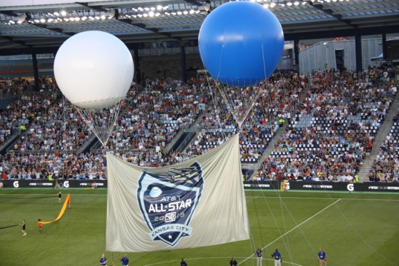 The MLS All-Star game brought the largest crowd ever to Sporting Park.