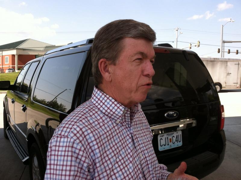 Republican U.S. Sen. Roy Blunt spoke at a gas station in Cape Girardeau.