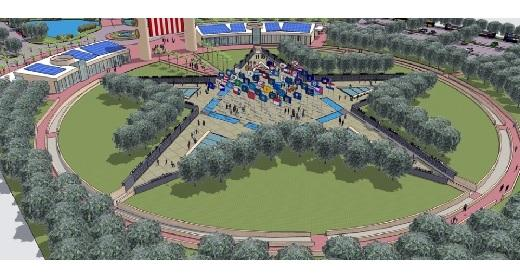 An artist's rendering of the proposed American Fallen Warrior Memorial.