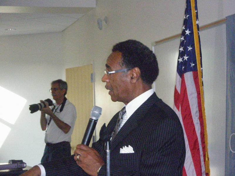 Congressman Emanuel Cleaver hosted a forum to hear constituents views on Syria.
