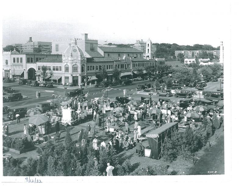 The Plaza Art Fair, shown here in 1932, started during the Great Depression.