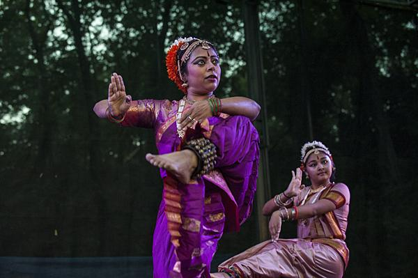 Samarpita Bajpai, of the Gurukul Dance Company, used expressive gestures of hand and foot during the performance of 'Shiva's Dance.'