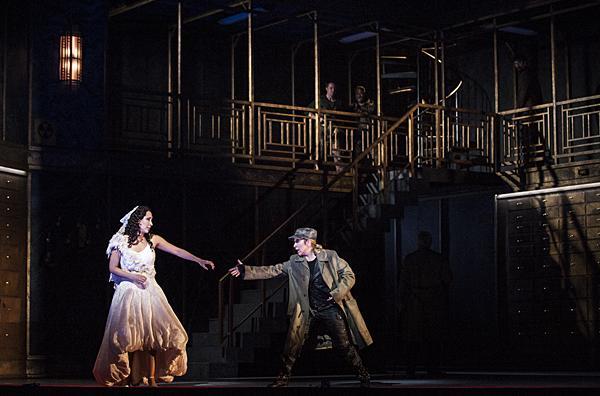 Nicole Cabell, as Giulietta, hesitates once again when Joyce DiDonato, as Romeo, attempts to persuade her to flee.
