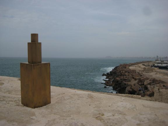 Ga created a brass sculpture of her own interpretation of the lighthouse.