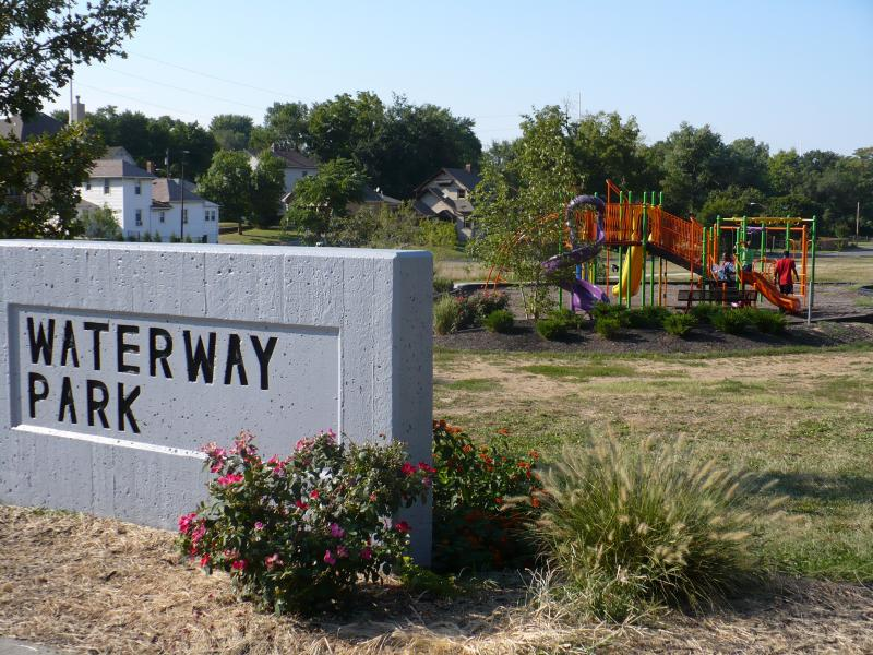 Waterway Park saw a transformation from the 90s when it was  hotspot for crime. Now it's a community gathering place that has a new walking trail, playground and rain garden.