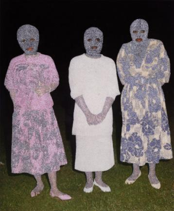 Paul Anthony Smith, Night Walkers, 2013, unique picotage on pigment print 29 x 24 inches