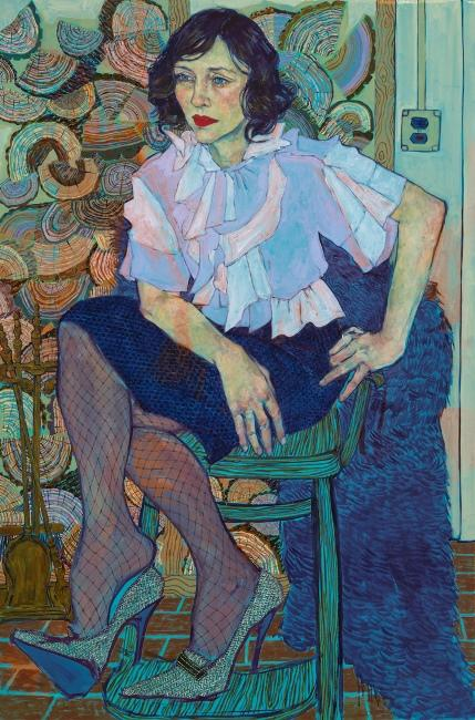 Hope Gangloff, Vera, 2013; acrylic on canvas, 81 x 54 inches.
